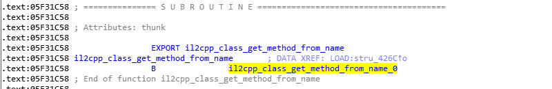 IDA中的il2cpp_class_get_method_from_name函数
